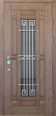 металлические двери со стеклом
